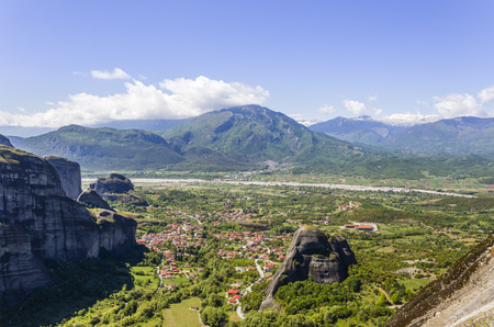 panoramic view on one of the Meteora monasteries