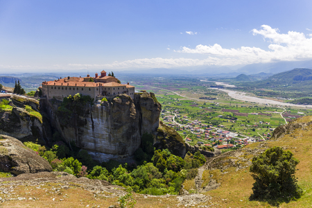 view on one of the Meteora monasteries