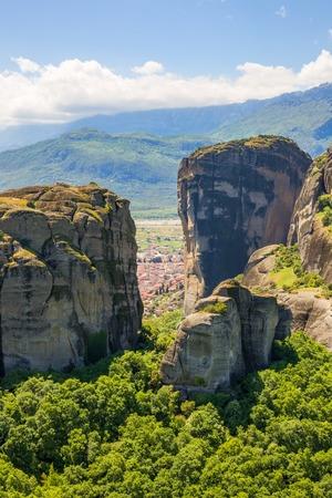 Kalambaka trough Meteora rocks
