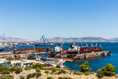 repair ship factory at Athens
