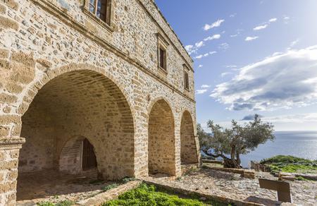Church of Panagia Odigitria in Byzantine town of Monemvasia, Greece.