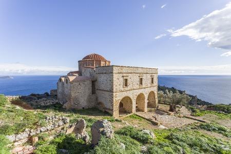 church of Panagia Odigitria in Byzantine town of Monemvasia, Greece, 04 JAN 2018