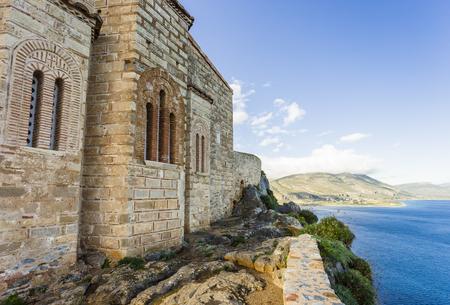 church of Panagia Odigitria in Byzantine town of Monemvasia, Greece Stock Photo