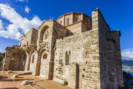 church of Panagia Odigitria in Byzantine town of Monemvasia, Greece. Stock Photo