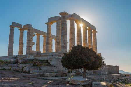 ruins ot the temple of Poseidon Imagens - 123859823