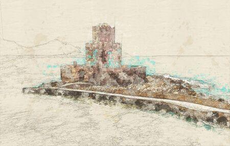 Methoni Venetian Fortress in Messenia, Greece Stock Photo