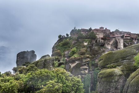 Rocks monasteries of Meteora, Greece Stock Photo