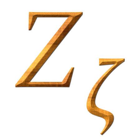 Greek alphabet wooden texture, Zita