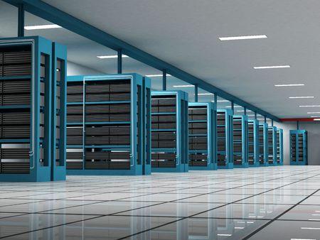web host: Server room Stock Photo