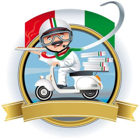 Italian chef Stock Vector - 16412157