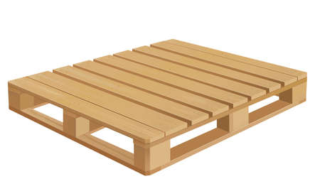 removals: American wooden pallet in perspective. Illustration