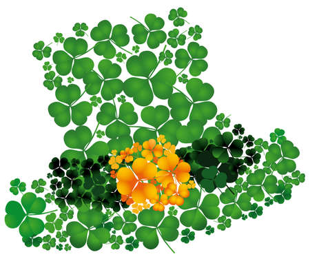 irish culture: Leprechaun�s hat of a composition consisting of clovers