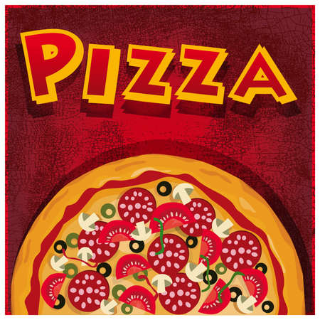 Pizza half, illustration useful for promoting pizzeriasAlso includes AICS3 layers, JPG and PDF files. Illustration