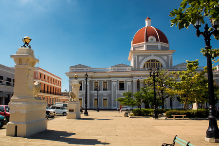 central square: Cienfuegos plaza central square