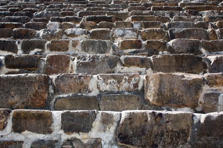 oaxaca: Mexico Oaxaca Monte Alban pyramide steps texture Stock Photo