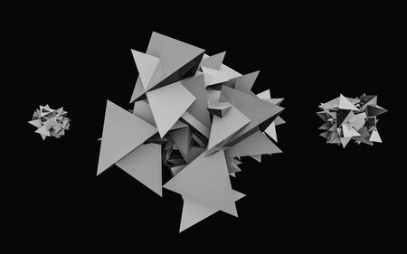 Abstract polygonal grey space low poly dark background. polygonal structure. Futuristic background. 3d render illustration