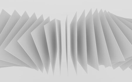 abstract white squares forming spiral 3d render in front of white background Stok Fotoğraf