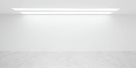 Empty white office wall loft interior sunny lighting with empty blank copyspace to add your content Фото со стока