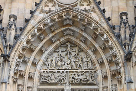 vitus: Details of the St  Vitus church, Prague, Czech Republic