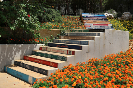 BALAMAND EL KOURA, LEBANON - AUGUST 10, 2018: The Staircase of Knowledge done by the library team at the University of Balamand. Editorial