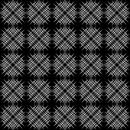 Seamless pattern. White lines on a black background.