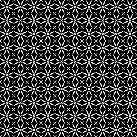 Seamless oriental pattern with Arabic ornaments. White lines on a black background. Foto de archivo - 129892391