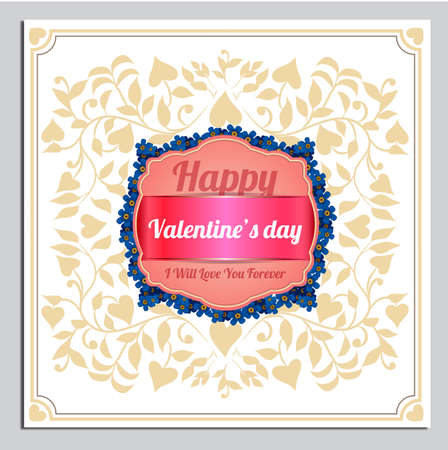 holiday invitation: Happy Valentines Day greetings card, label, badge, symbol, illustration and typography vector elements