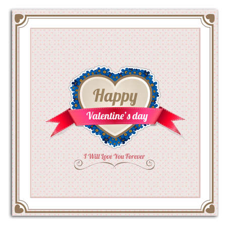 invitation frame: Happy Valentines Day greetings card, label, badge, symbol, illustration and typography vector elements