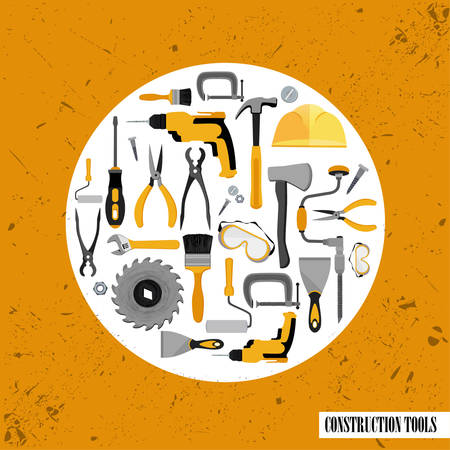carpentry cartoon: Construction tools set . Vector illustration of Construction tools Illustration