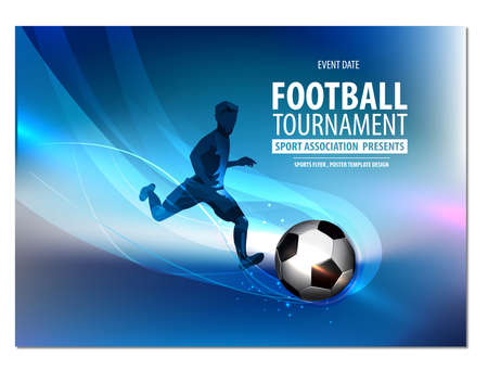 Football party, football championship, football tournament college league.Flyer, Poster Brochure Presentation Ilustração
