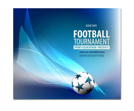 Football party, football championship, football tournament college league Ilustração