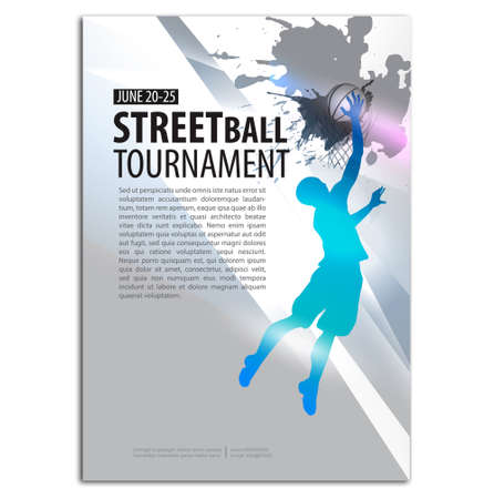Basketball Illustration. Player. Sport Concept Poster Flyer template