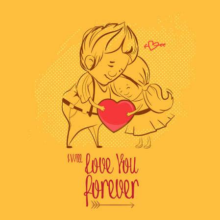 enamorados caricatura: Día de San Valentín. amor, los personajes hombre mujer en el amor