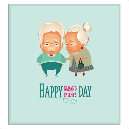 Grandparents Day. Grandparents couple