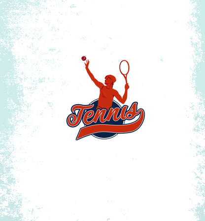 Vintage tennis vector labels, badges and emblems. Sport sign icon, club game illustration