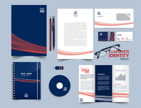 Corporate identity template set.Vector illustration.Easy editing of all parts and colors.