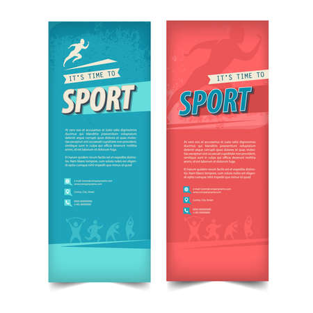 Fitness Center Flyer Poster Cover Template 向量圖像