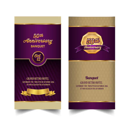 Anniversary ticket, banquet. Template