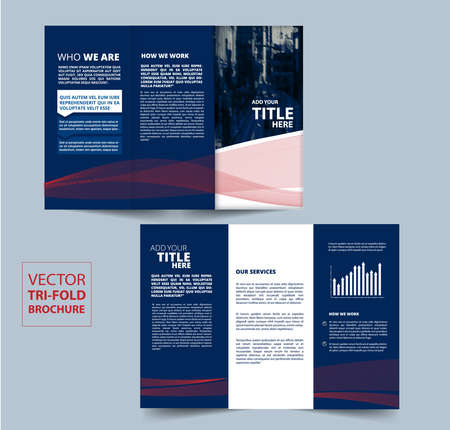 Tri Fold Brochure vector design for your company.
