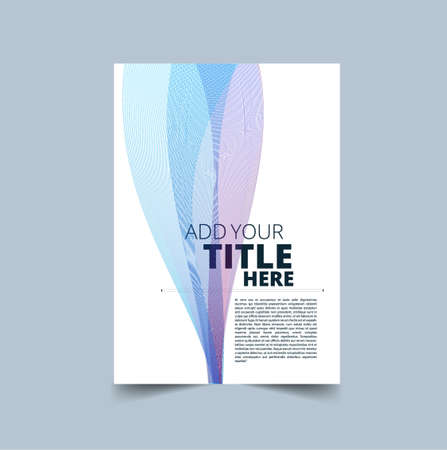 Vector design for Cover Report Annual Flyer Poster in A4 size