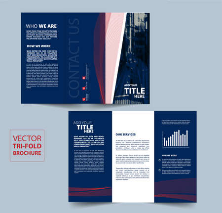 Tri Fold Brochure vector design for your company