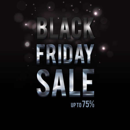 Black Friday banner. Vector illustration