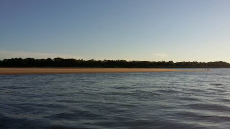 colour: Sunset from parana river