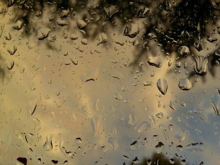 Rainy evening through the window