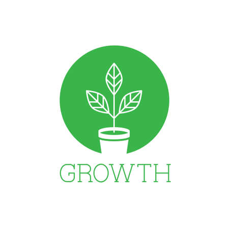 phytology: Growth vector logo