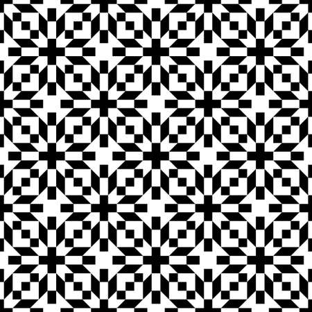 블랙 & 화이트 꽃 패턴을 추상 원활한 형상 일러스트
