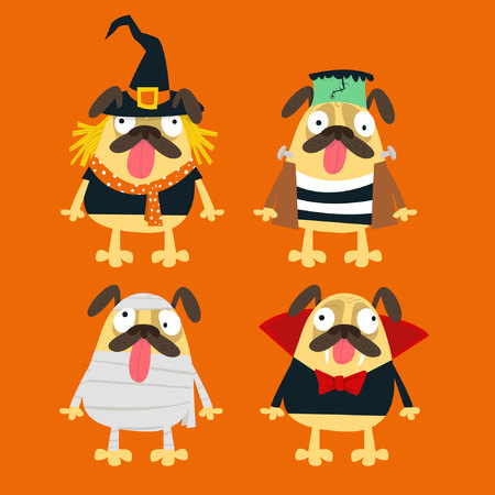Halloween party Pugs collection