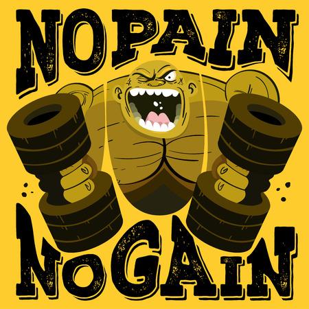 No Pain No Gain Workout Motivation Zitat