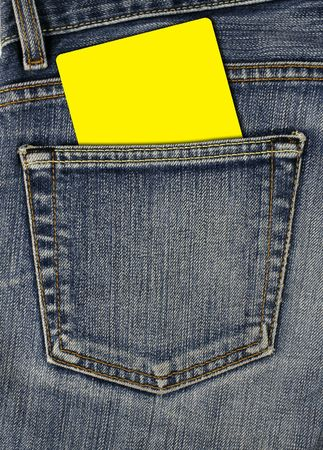 back pocket: jean back pocket and empty card
