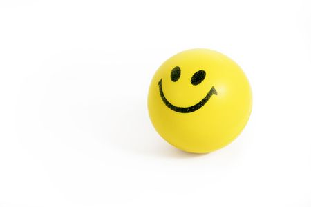 smiling face stress ball Stock Photo - 4375897